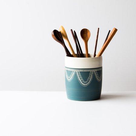 La Sauvage Utensil Crock/Vase - Blue