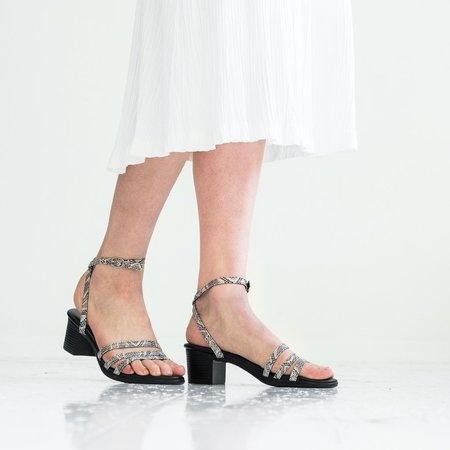 Hopp Wrap Around Sandal - Snakeskin Print