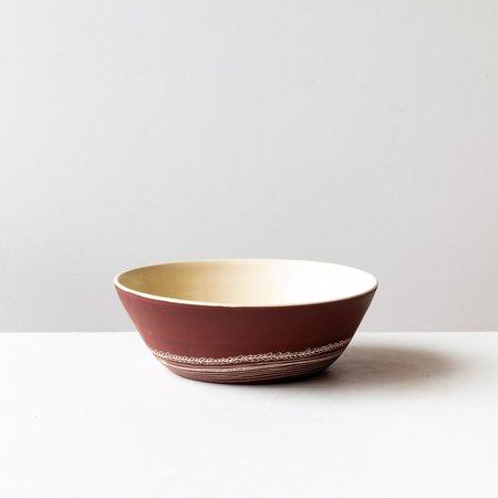 La Sauvage Small Etched Ceramic Salad Bowl