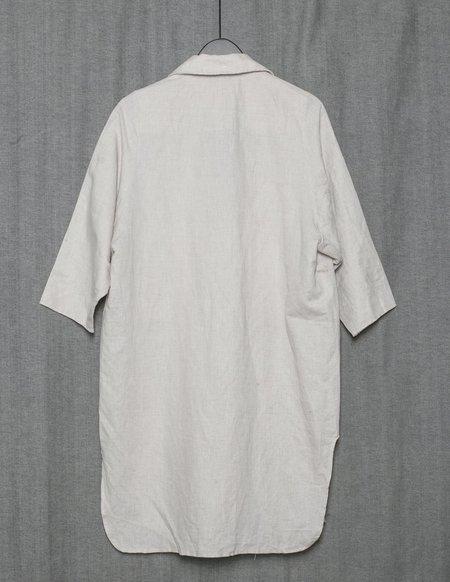 Berenik Natural Linen Summer Coat Revers - White