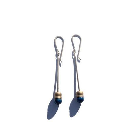 Mitchell Street Metal Brasshat Earrings