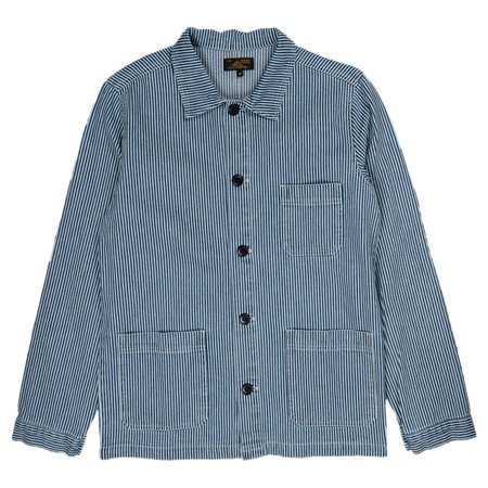 Le Mont St. Michel Striped Denim Work Jacket