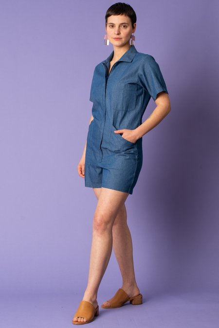 Cameo Union Shortall Jumper - Washed Denim