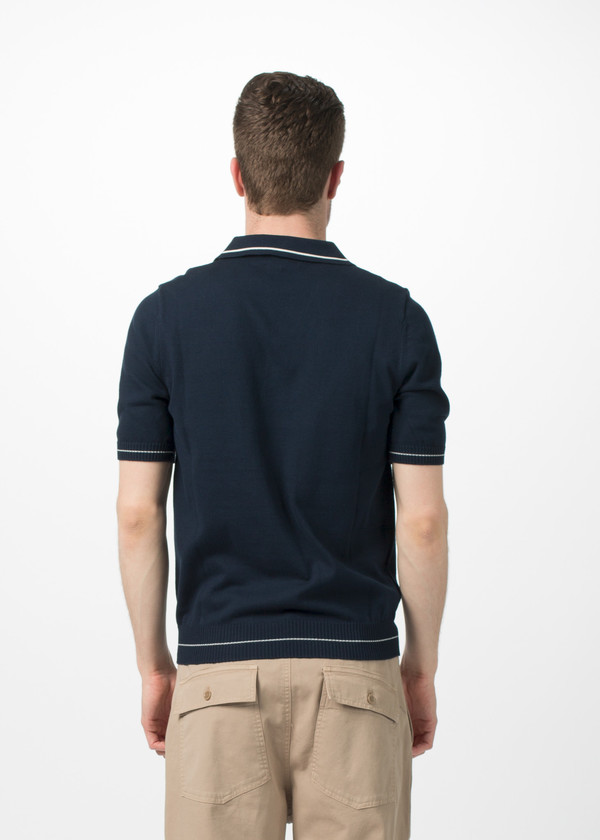 Men's Fred Perry Knit Sport Shirt - Blue