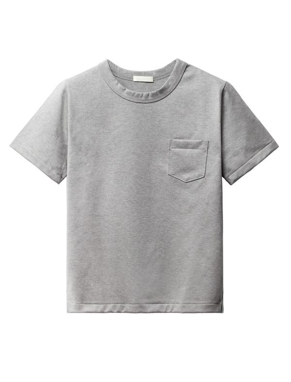 Niuhans Heavyweight Cotton Pocket Tee Grey