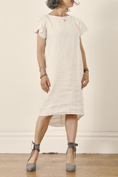Humanoid Susie Flutter sleeve Dress - Salt