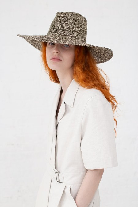 Clyde Pinch Panama Hat - Beige/Tan Mix