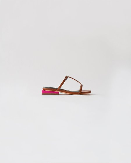 Kurt Lyle Mimi Slide - Brown/Pink