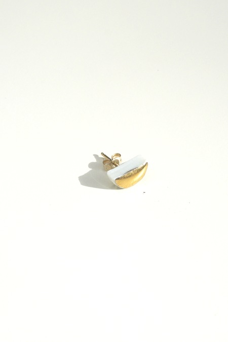 Jujumade 14K gold half moon earring