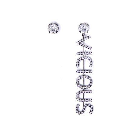 Joomi Lim Vicious Earrings - Rhthenium/Crystal