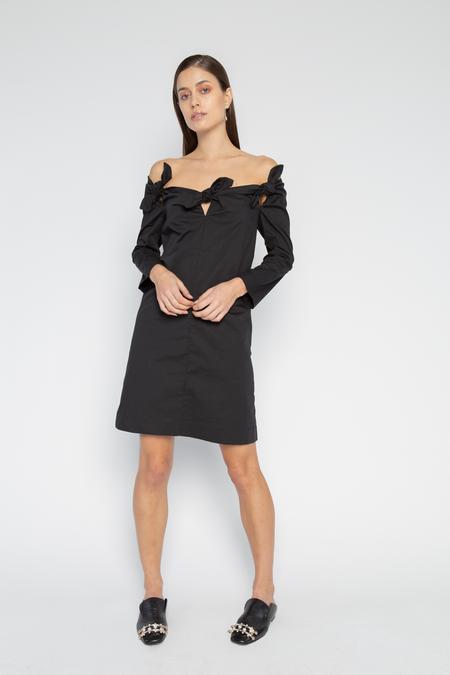 ISA ARFEN 3 Knot Mini Dress - Black