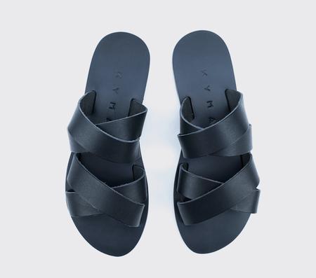 KYMA Kalamos Handmade Greek Sandals - Black