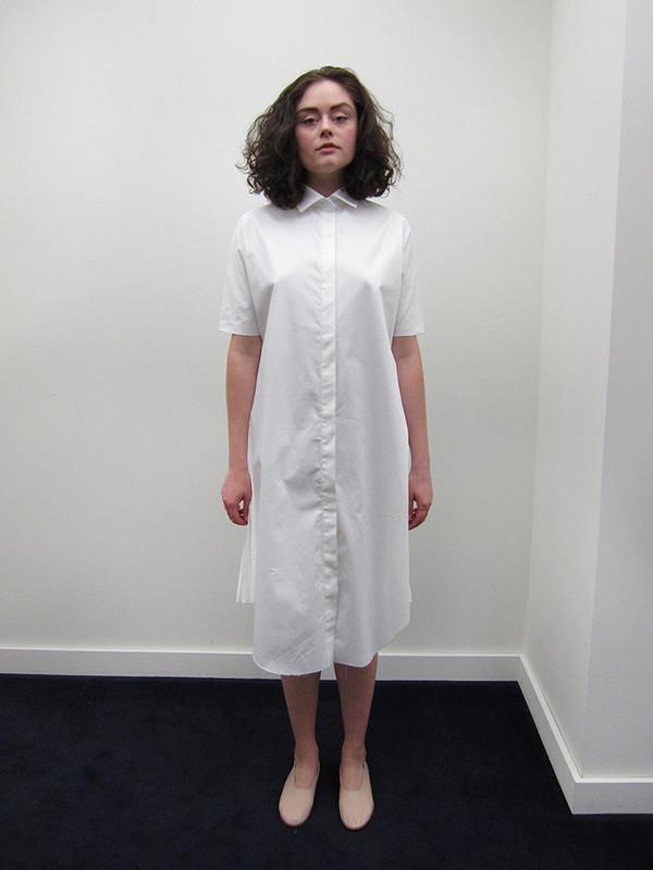 Alexa Stark Pleated Button Down Dress