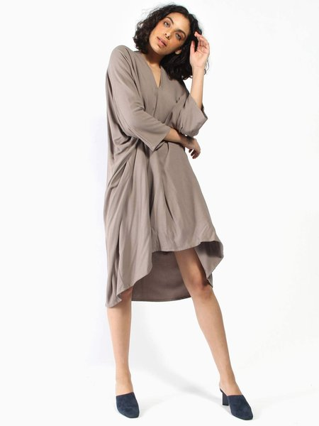 Miranda Bennett Muse Dress - Taupe
