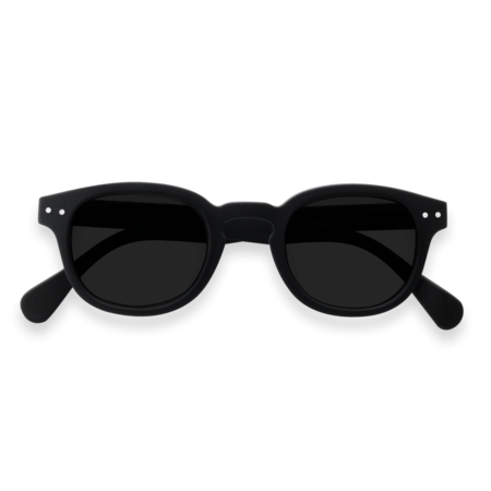Unisex Izipizi Sunglasses #C Soft Grey Lenses Sunglasses - Black
