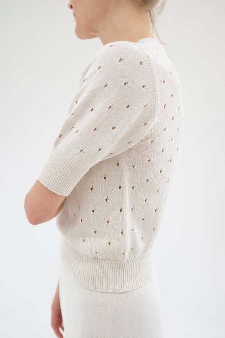 Beklina Paracas Knit Top - White