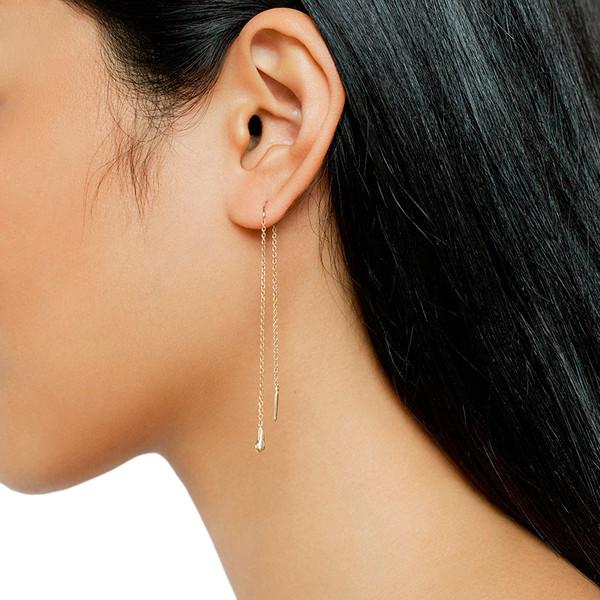 MANON THREAD EARRINGS DROP LONG