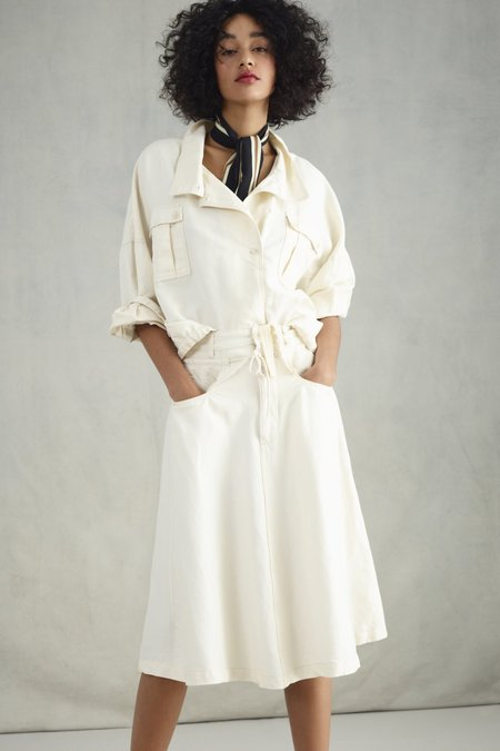 Closed Jeanette Linen/Cotton Skirt - blanched almond