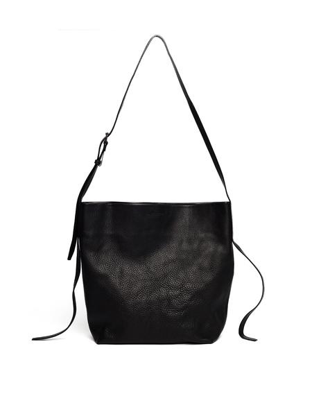 Ann Demeulemeester Leather Shopper Bag - Black