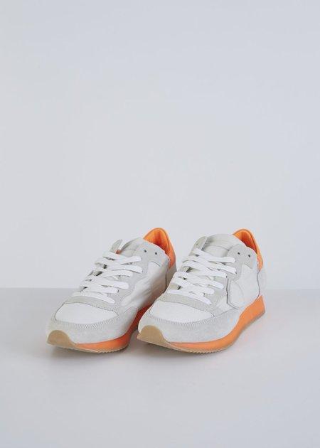 Philippe Model Tropez Low Top Sneaker - White/Neon Orange