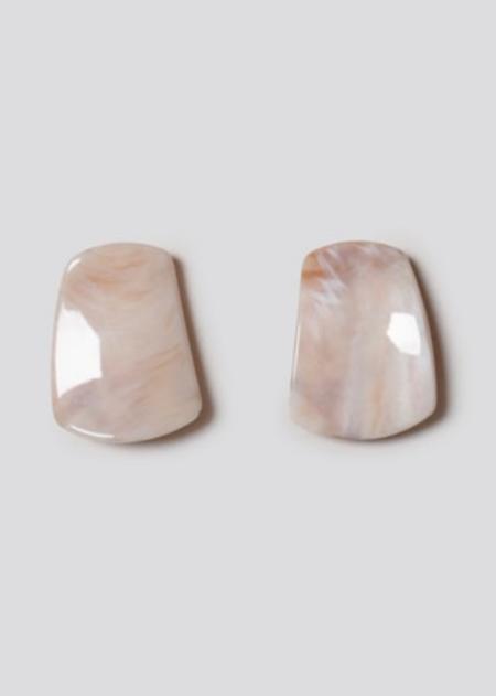 Rachel Comey Dusk Earrings - Bone Marble