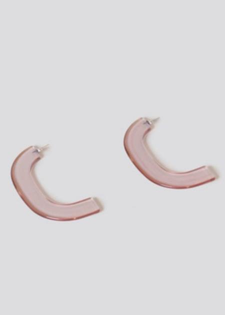 Rachel Comey Handle Earrings - Clear Pink