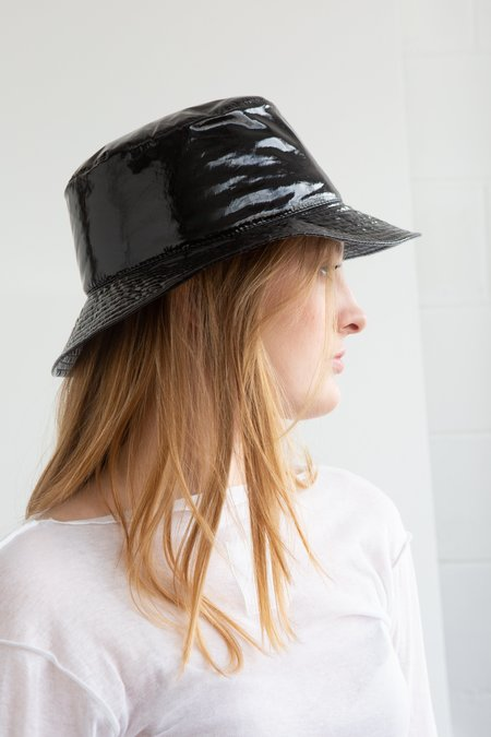 Grevi Patent Bucket Hat - Black