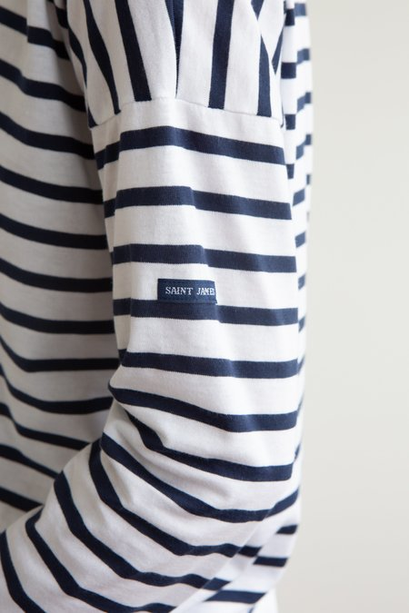 Saint James Minquiers Breton - White/Navy