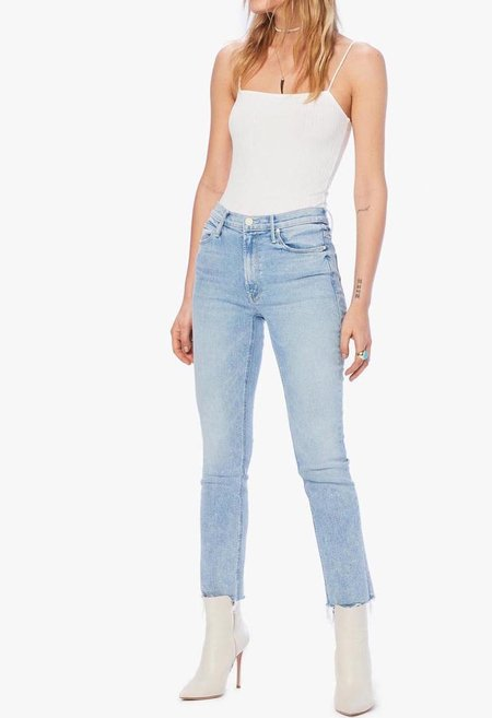 Mother Denim The Mid Rise Dazzler Ankle Fray Jeans - Reading By The Pool