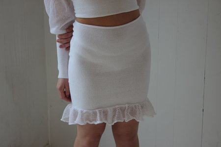 Pearle Knits Come Hither Skirt - Coconut