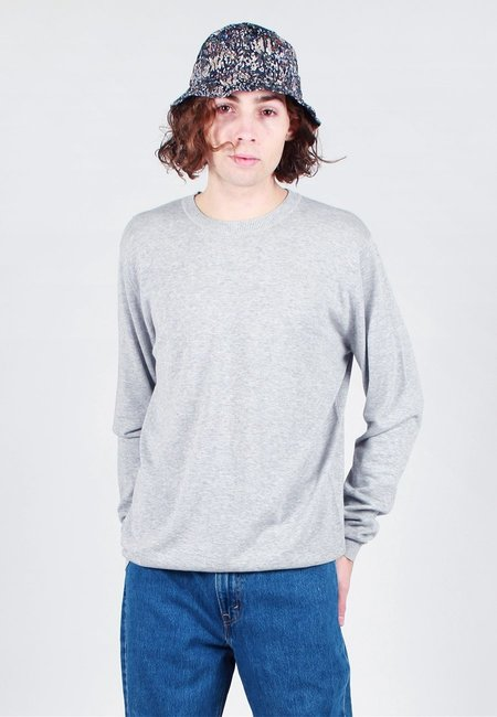 Norse Projects Sigfred Dry Cotton Knit Sweater - light grey melange