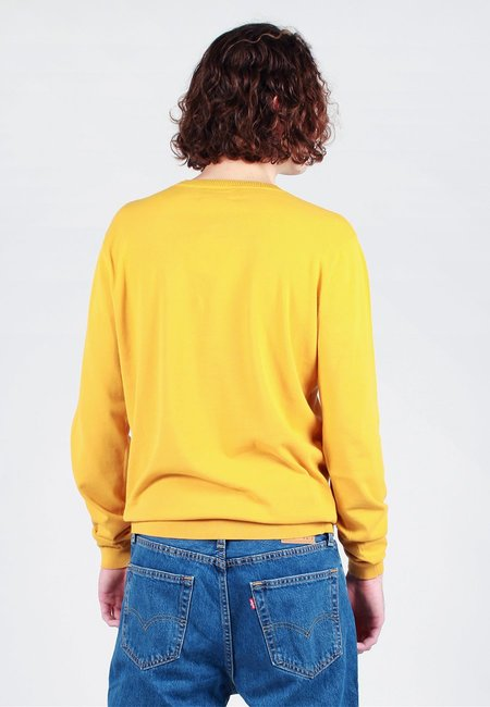 Norse Projects Sigfred Dry Cotton Knit Sweater - sunrise yellow