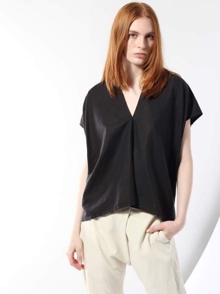 Miranda Bennett Linen/Cotton Everyday Top - Black