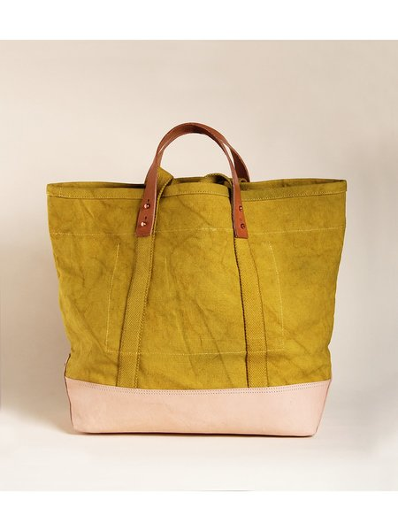 IMMODEST COTTON East West Bucket Tote - Chartreuse