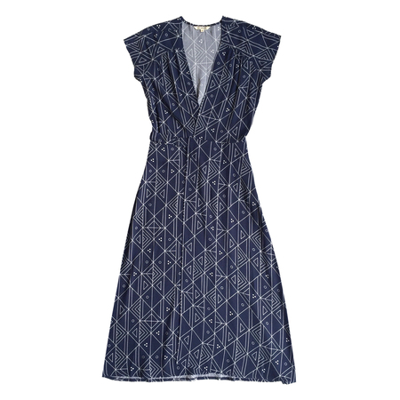Ali Golden WRAP DRESS - NAVY PRINT