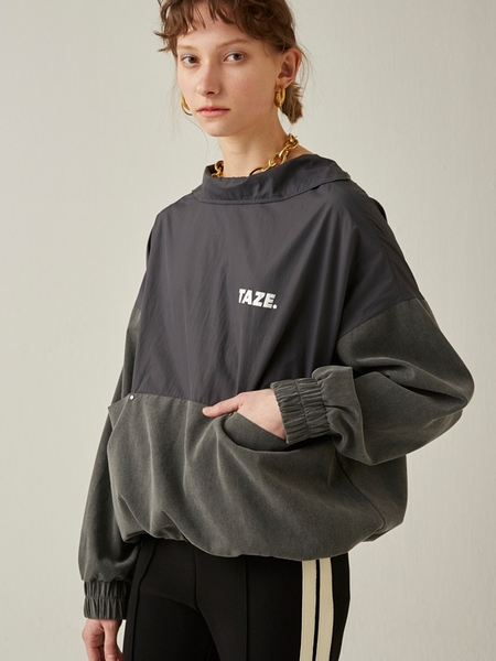 Taze Tod Pile Anorak - French Charcoal