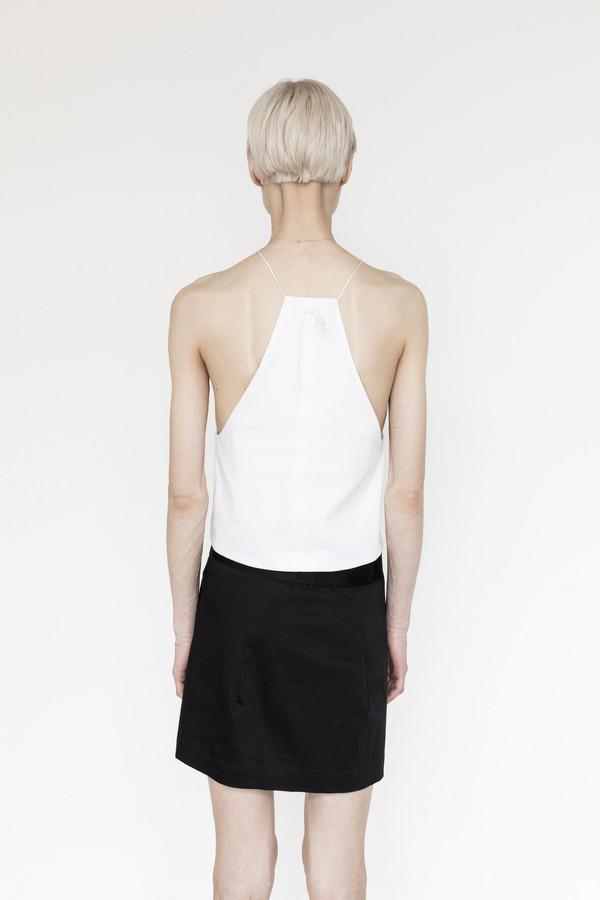 Index Cotton Halter Top - White