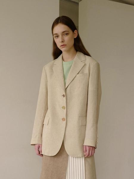 Andersson Bell Leah Resort Linen Jacket - Beige