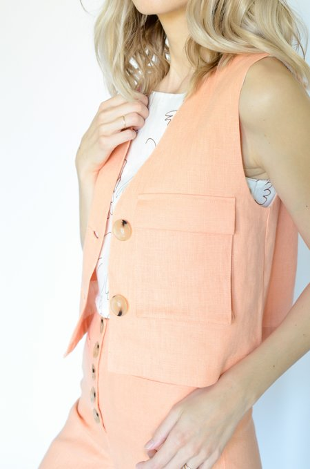Paloma Wool Sabina Vest - Light Peach