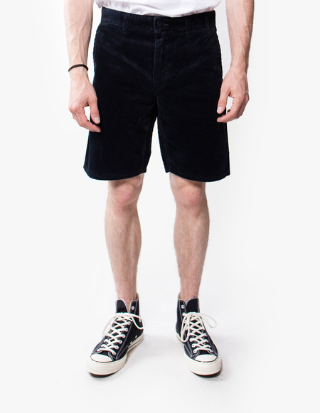 Norse Projects Aros Corduroy Shorts - Navy