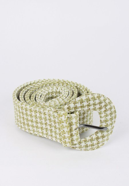 Jaggar Buckle Belt - sage houndstooth