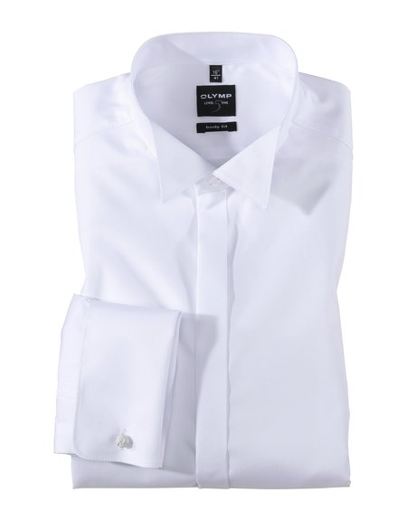 Olymp Body Fit Wing Collar Dinner Shirt - White