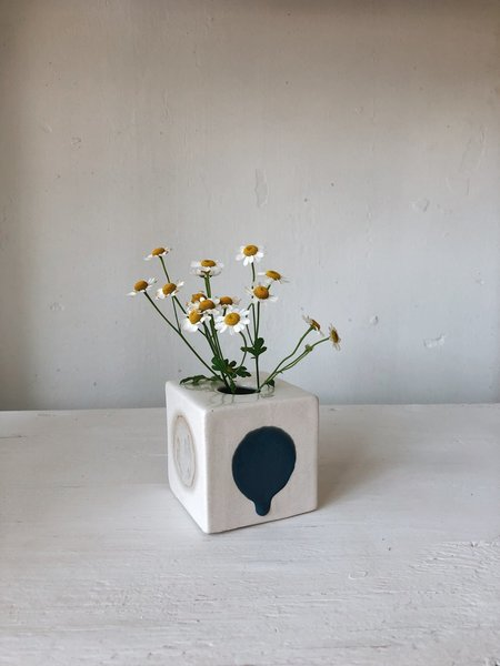 The Object Enthusiast Cube Dot Vase