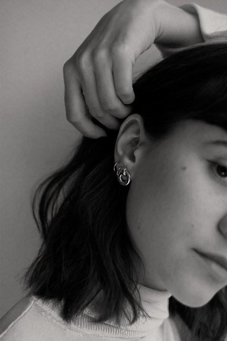 Alta Ora Small O Curve Earrings - Gold