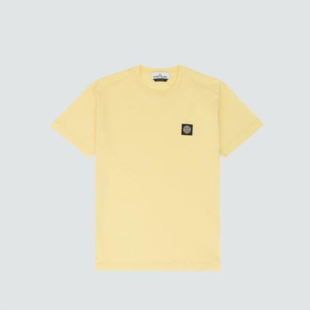 50553acf2694 ... Stone Island Patch Logo Tee - Lemon