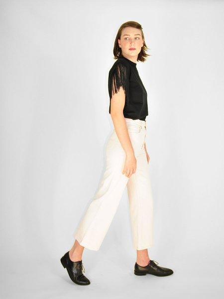 Lee Vintage Modern Lee Cropped Wide Leg Jean - Ecru