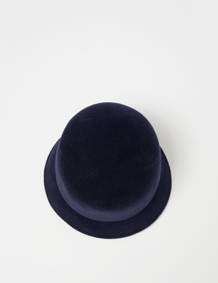 Clyde Batta Hat in Navy Angora