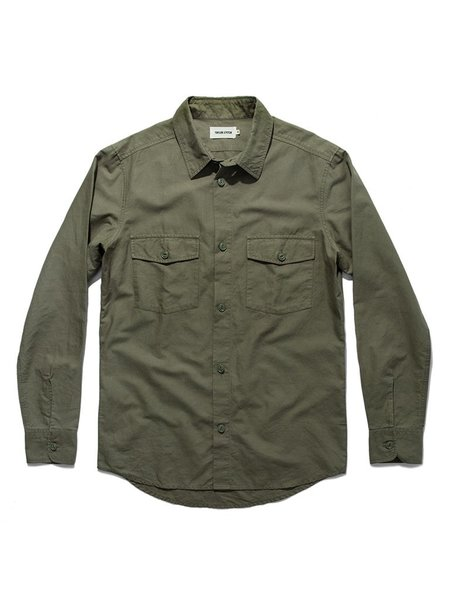 Taylor Stitch The Point Shirt - Army Hemp