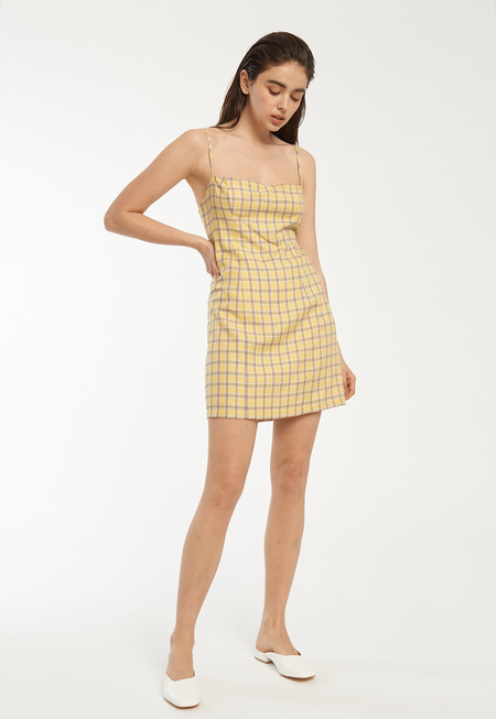 Capulet Amber Mini Dress - Yellow Plaid
