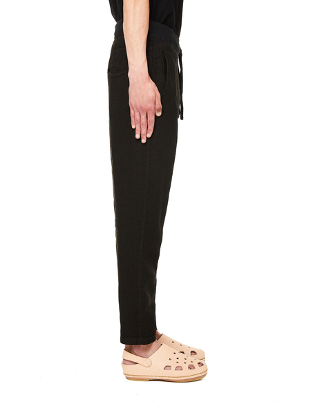 120% Lino Linen Trousers - Black